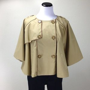 Forever 21 Tan Cotton Batwing Fully Lined Cape